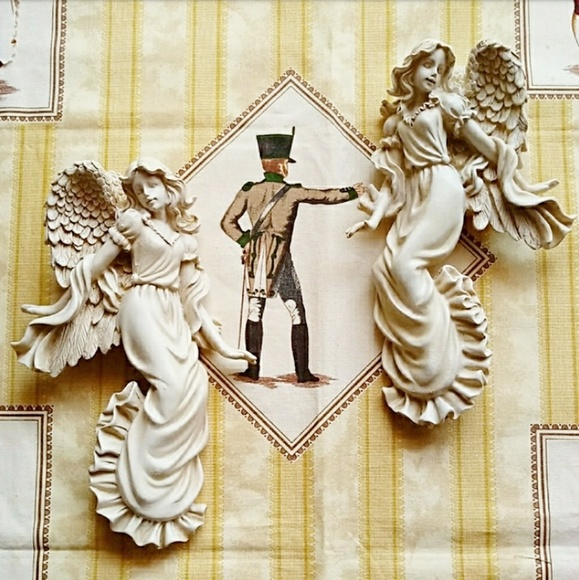 Other - Female Angels Sculpted Wall Decor - Set of 2